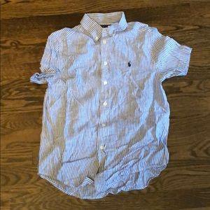 Ralph Lauren boys short sleeve stripped shirt